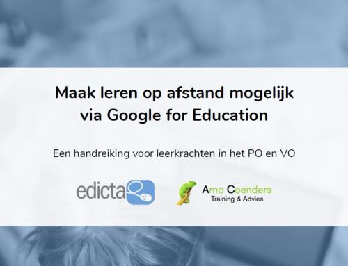 Gratis handleiding leren op afstand via Google for Education